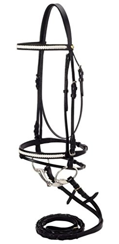Silver Fox Snaffle Show Bridle ()