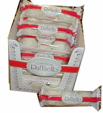 Ferrero Raffaello Almond Coconut Candy, 3 Count, Pack of 12 Individually Wrapped Coconut Candy Gifts, 1 oz
