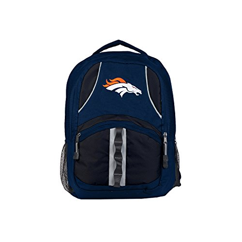 Officially Licensed NFL Denver Broncos Captain Backpack, Navy, 18.5