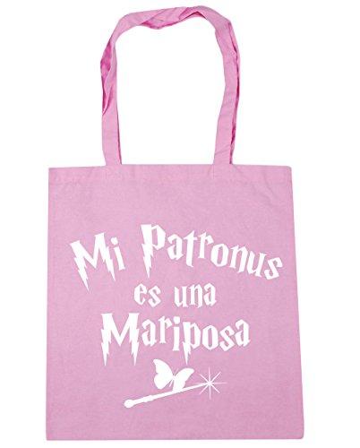 HippoWarehouse Mi Patronus es una Mariposa Bolso de Playa Bolsa Compra Con Asas para gimnasio 42cm x 38cm 10 litros capacidad Rosa Clásico