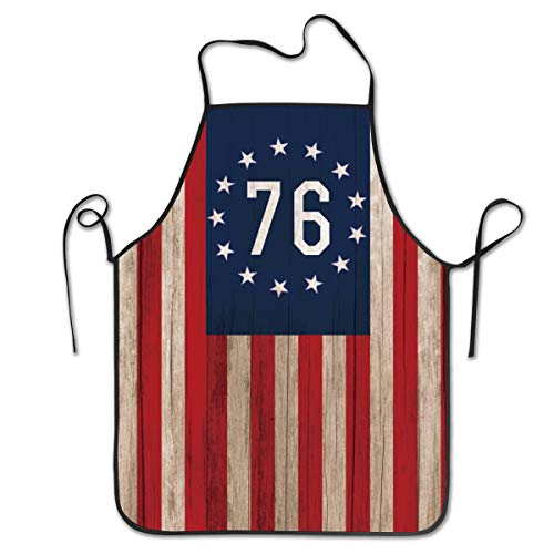 Hidden Ambition Betsy Ross Flag Cute Aprons for Women Mens Kitchen Aprons for Chef Waiter Cooking Baking Crafting Gardening ()
