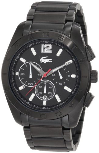 2010605 Lacoste Panama Chronograph Black Unisex - Plaza Shops Broadway