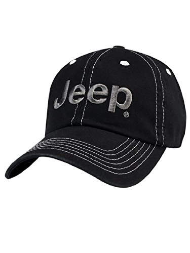 Jeep® Black Cap (Gray Jeep Hat)