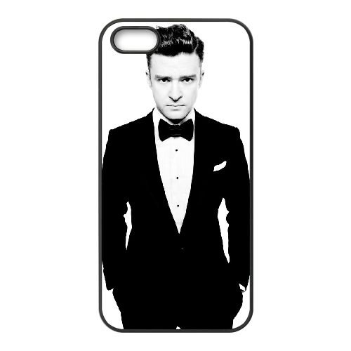 Justin Timberlake 001 2 coque iPhone 5 5S cellulaire cas coque de téléphone cas téléphone cellulaire noir couvercle EOKXLLNCD25036