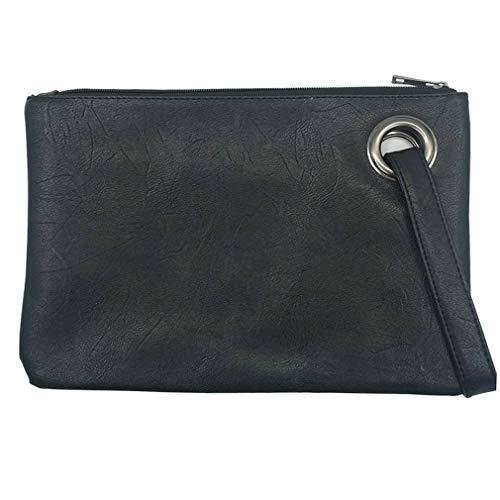 Bag Clutch Women Blue Bag Evening Fashion Women's Female Leather Solid Clutches Handbag Envelope Clutch Bag 468vXxqH