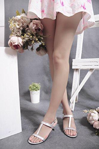 CFP - Zapatos con tacón mujer plateado