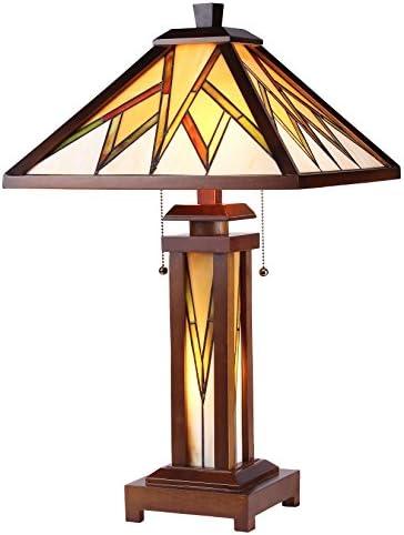 Chloe CH35834WM15-DT3 Lamorak Double Lit Table Lamp