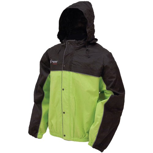 Frogg Toggs Unisex-Adult High Visibility Road Toad Rain Jacket (Green, ()