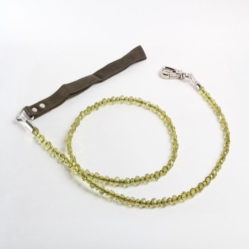 Fabuleash Beaded Dog Leashes Jewel Collection - (Olivine Jewel)