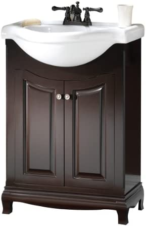 Foremost PAEA2534 Palermo Contemporary Bathroom Vanity, 25-5 8 In W X 18-7 8 In D X 37 In H, Espresso