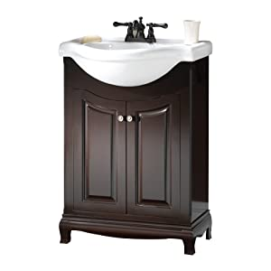 Foremost PAEA2534 Palermo Contemporary Bathroom Vanity, 25-5/8 In W X 18-7/8 In D X 37 In H, Espresso