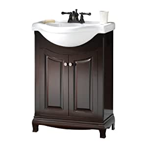 Foremost Paea2534 Palermo Euro Bath Vanity With China Top Bathroom Vanities