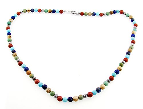 southwestern-gemstone-necklace-with-sterling-silver