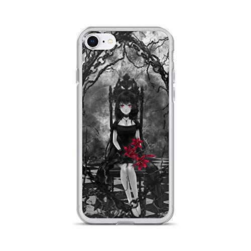iPhone 7/8 Case Anti-Scratch Japanese Comic Transparent Cases Cover Red Lady Anime & Manga Graphic Novels Crystal Clear