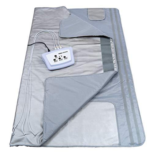 Gizmo Supply 3 Zone Digital Far-Infrared (FIR) Heat Sauna Blanket (Best Temperature For Far Infrared Sauna)
