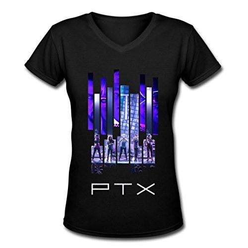 ZJL loveliness women's Pentatonix poster women's t shirt Black M ()