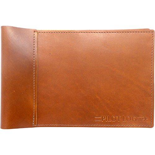 Professional Pilot Log Book (Leather Professional Pilot Logbook Cover (Saddle))