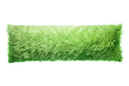 North End Decor Faux Fur Body, Mongolian Lime 20x54 (Cover Only) Throw Pillows, Green
