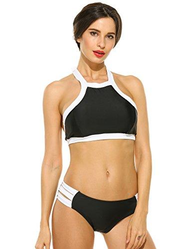 Black And White Halter Bikini in Australia - 9