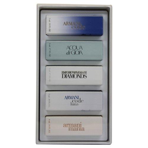 Armani Mini Perfume (Giorgio Armani Variety 5 Piece Gift Set for Women, Mini)