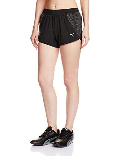Puma Nightcat Short W–Pantalón para mujer, mujer, color Black - black, tamaño XS Black - black