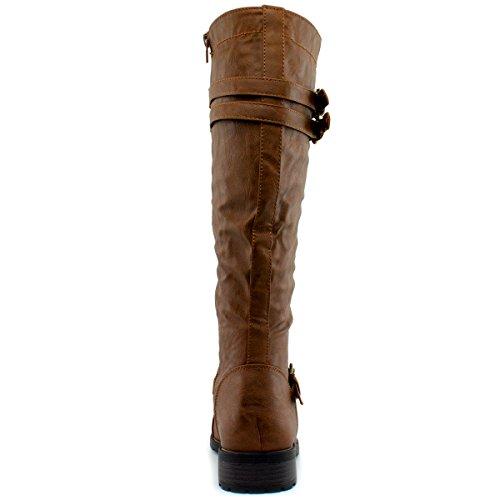 Die Stiefel der wilden Diva-Frauen Timberly-65 Premier Cognac