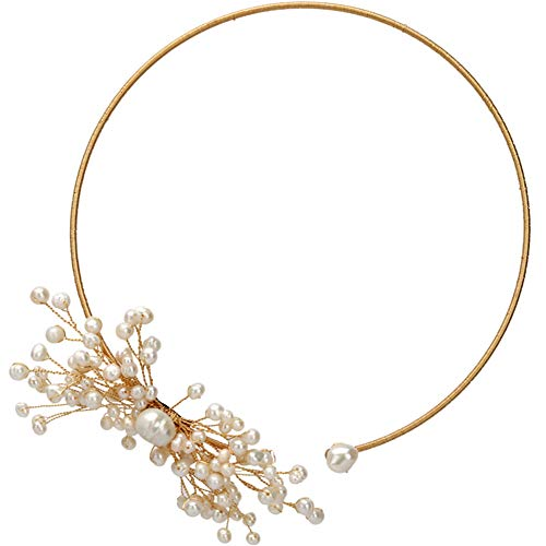 - Women's Natural Freshwater Pearl Necklace Snowflake Flower Clavicle Chain Collar (Snowflake)