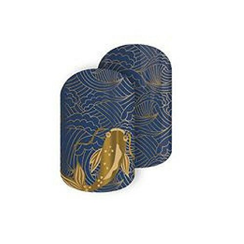 Koi Legend Jamberry Nail Wraps | Metallic Gold Fish Nail Decal Design | Fun & Trendy Nail Art Stickers | Perfect Gift for DIY Easy Nail Art | 1 Full Sheet to do 2 Manicures & 2 Pedicures
