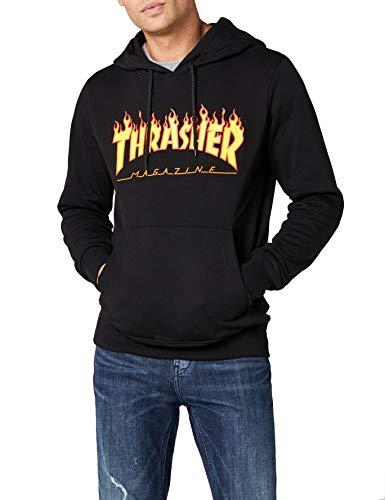 Thrasher Flame Logo Pullover Hoody Medium Black ()