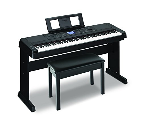 Yamaha DGX-660 88-Key Weighted Action Digital Grand Piano with Matching Stand and Bench