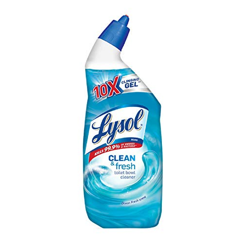 Lysol Clean & Fresh Toilet Bowl Cleaner, Disinfects & Deodorizes, Ocean Fresh Scent, 24 oz (Pack of 8)