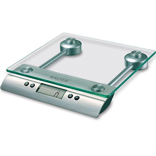 - Salter Glass Aquatronic Electronic Digital Dry & Liquid Measuring Kitchen Scale - Silver