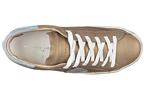 Philippe Model Damenschuhe Turnschuhe Damen Leder Schuhe Sneakers classic metall