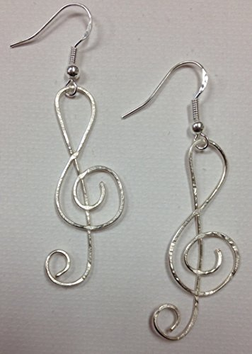 Music Treble Clef Earrings, on sterling silver earwires, great for all musicians!
