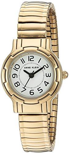 Anne Klein Women's AK/2340WTGB Gold-Tone Expansion Band Watch