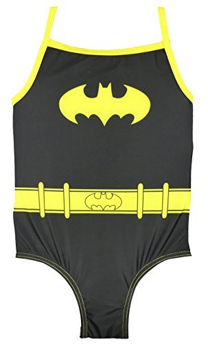 DC Super Heroes Girls Swimsuit Wonder Woman Batgirl and Supergirl 2-3y To 5-6y (Batgirl, 2-3 Years)