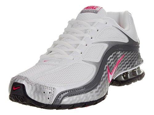 Nike Women's Reax Run 5, Running, White/Grey, M (8.5 M US, White/Metallic Silver/Dark Grey)