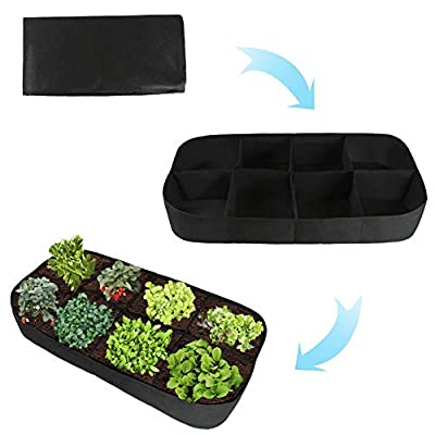 scgtpapadc Planting Bag, 8 Grids Vegetable Flower Planting Container Nursery Pot Grow Bag Garden Tool Photo Color: Kitchen & Dining