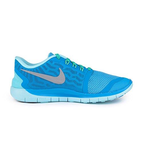 Nike Free 5.0 (GS) Blue Lagoon Metallic Silver 725114-404 (7 M US Big