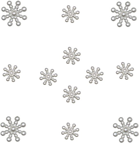 (Jesse James Dress It Up Holiday Collection Embellishments, Pearl)