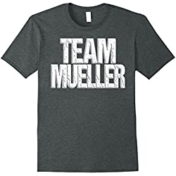Mens Team Mueller T-Shirt Cool Anti-Trump Resistance Tee XL Dark Heather