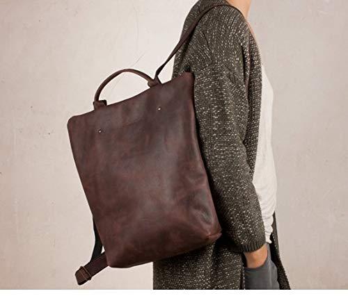 Mochila cuero marrón, mochila segura marrón, mochila mujer ciudad, mochilas viajes, mochila