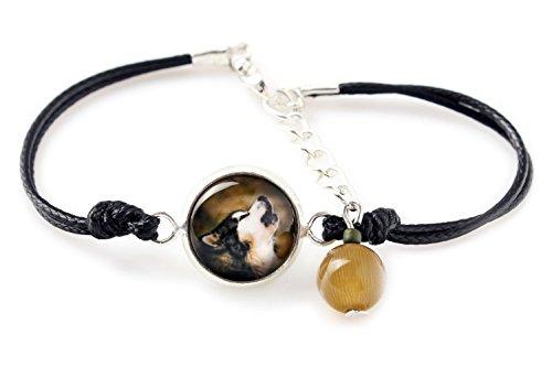 (Art Dog Ltd. Alaskan Malamute, Bracelet for People who Love Dogs, Photo Jewelry,)