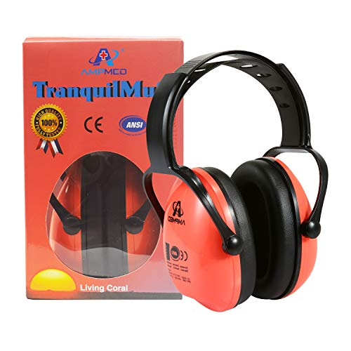 Hearing Protection Earmuff/Headphone for Toddlers, Kids, Teens and Adults. Amplim Noise Cancelling Headphones, Earmuffs for Kids Ear Defenders - Airplane/Concert/Outdoor/Lawn Mower - - Airplanes Orange