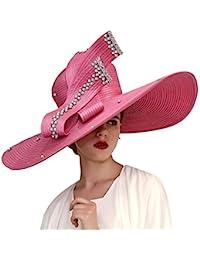 Women Church Hats Big Brim Derby Hats Lady Party Wear Fascinators Elegant
