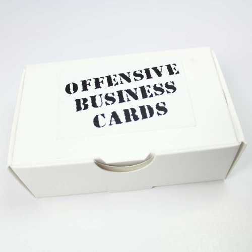 Stay classy while still speaking your mind with these offensive business cards. With eight different types of insults included, you'll have an insult for a variety of situations. The offensive business cards include the following templates:- ...