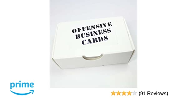 Amazon offensive business cards by thisiswhyimbroke toys games reheart Gallery
