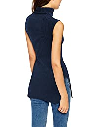 Womens Super Comfy Sleeveless Turtleneck Tunic Sweater