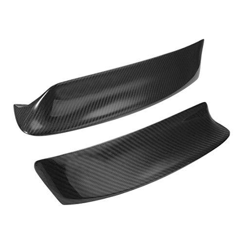 LETAOSK 2Pcs Carbon Fiber Style Front Bumper Lip Splitter Fit for BMW E46 M3 1999-2006 ()
