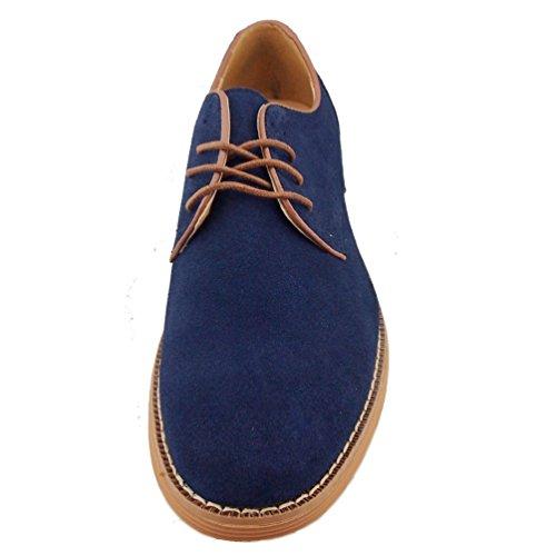 TOOGOO(R)NEU Veloursleder Europaeische Stil Leder Schuhe Herren Oxfords laessig blau 6 - 999
